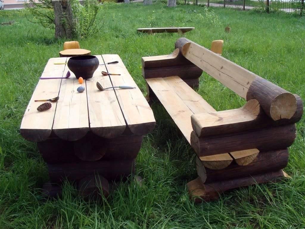 Деревянный стол для дачи: делаем сами