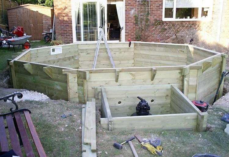 Площадка под каркасный бассейн: как сделать своими руками? примеры деревянной и бетонной площадки
