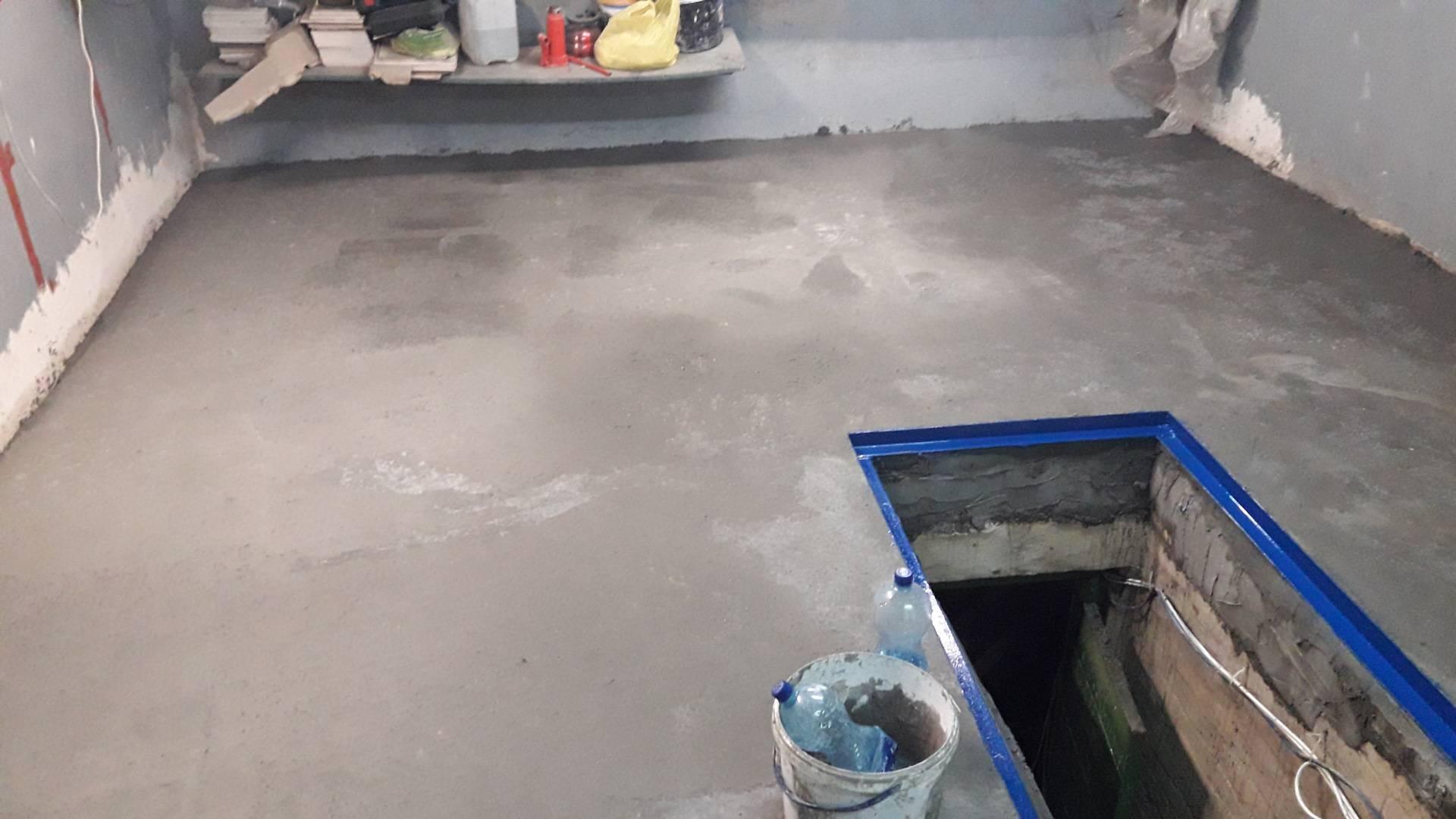 Бетонный пол в гараже своими руками: как правильно залить, утеплить и покрасить