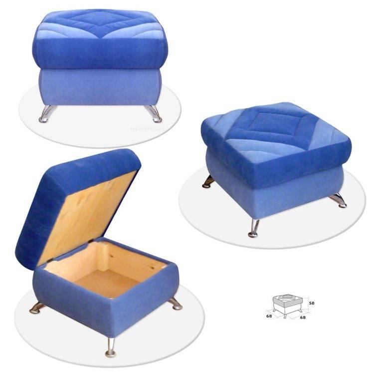 Пуфик своими руками: пошаговая инструкция как сделать оригинальную и удобную мебель