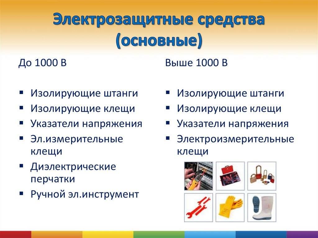 Электрозащитные средства и предохранительные приспособления