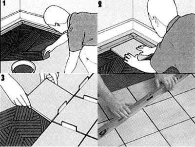 Укладка плитки на пол своими руками: пошаговая инструкция с фото и видео