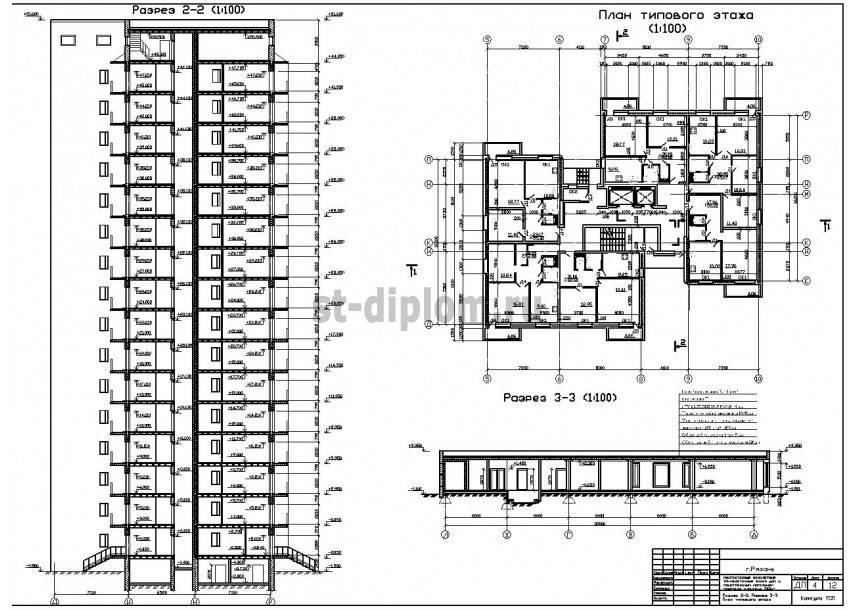 Высота 5 этажного дома в метрах