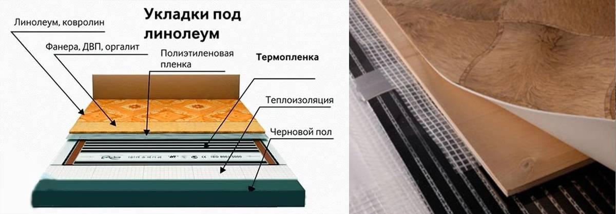 Монтаж теплого пола под линолеум на деревянный пол: виды системы отопления и линолеума, пошаговый процесс монтажа тёплого пола в квартире