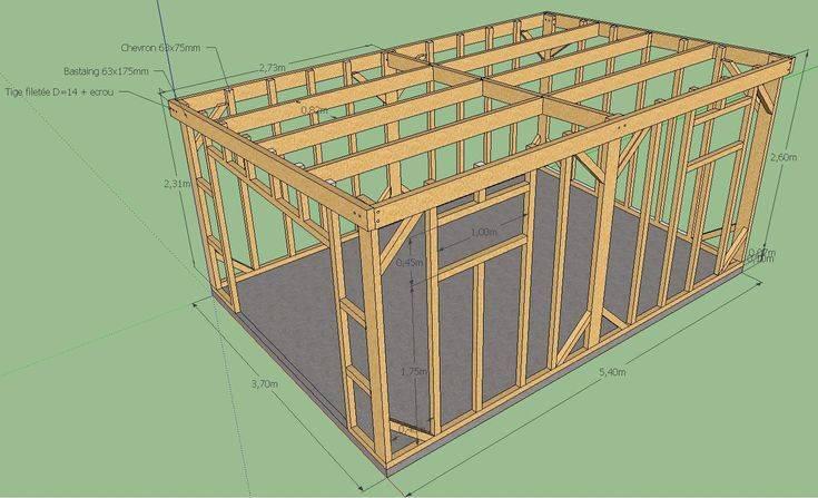 Деревянный гараж: как построить своими руками пошагово с видео
