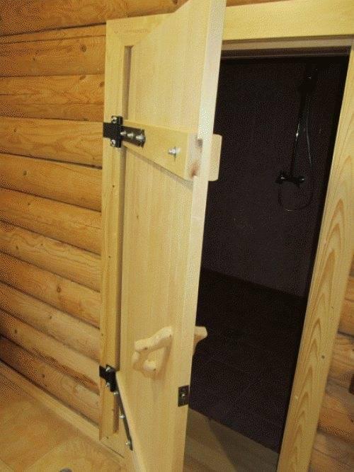 Выбираем или изготавливаем двери для бани самостоятельно
