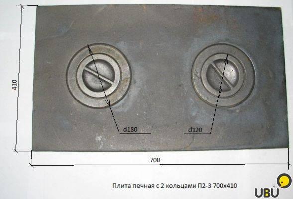 Плита печная чугунная размеры — канализация