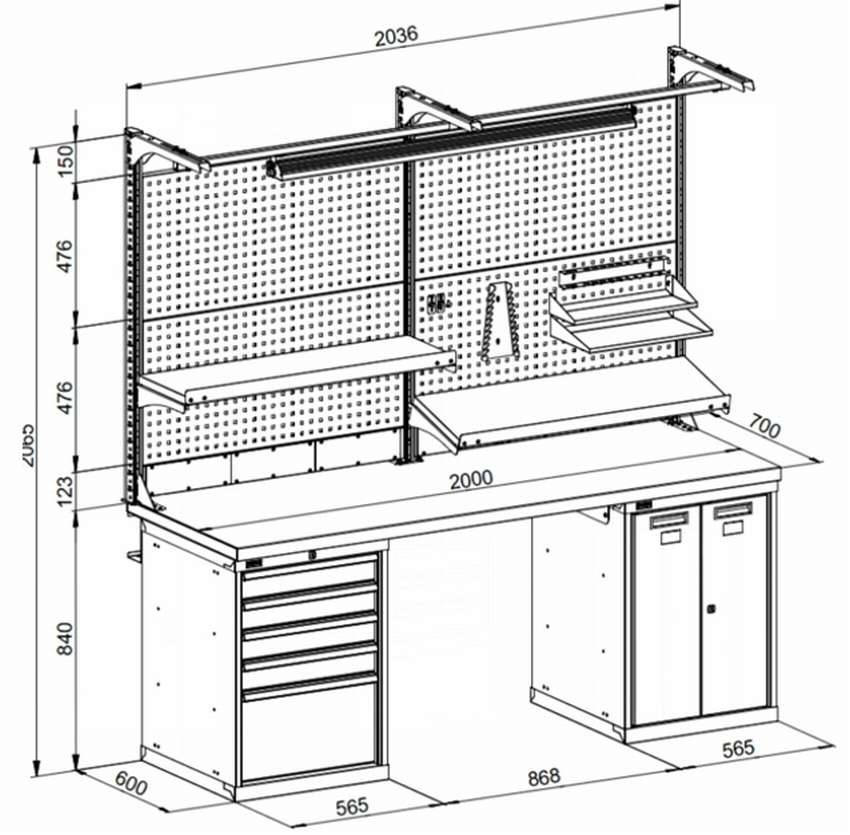 Верстак в гараж своими руками (39 фото): варианты из дерева и металла, размеры и чертежи самодельных складных и навесных верстаков