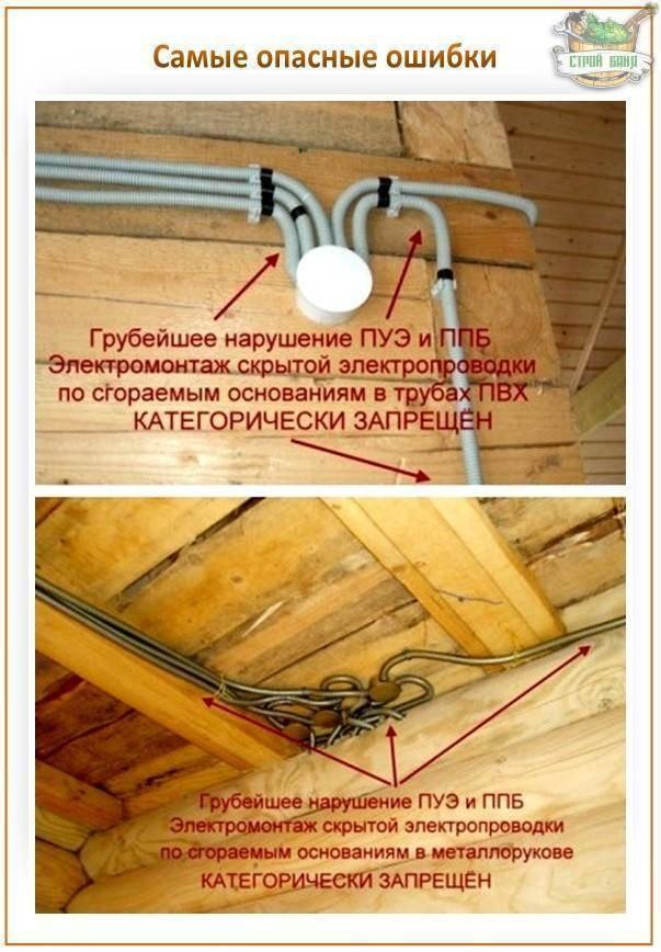 Как самостоятельно сделать электропроводку в бане