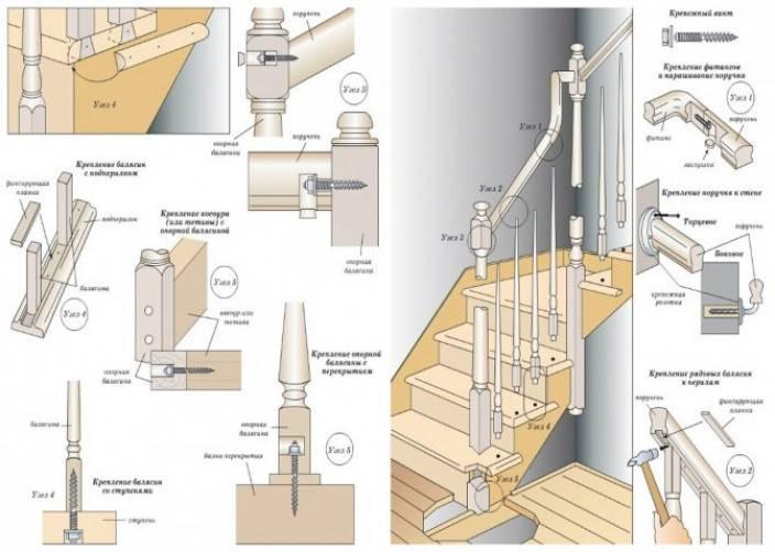 Балясины установка на бетонную лестницу своими руками