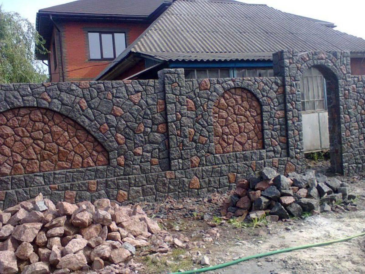 Забор из натурального камня: фото как сделать его своими руками