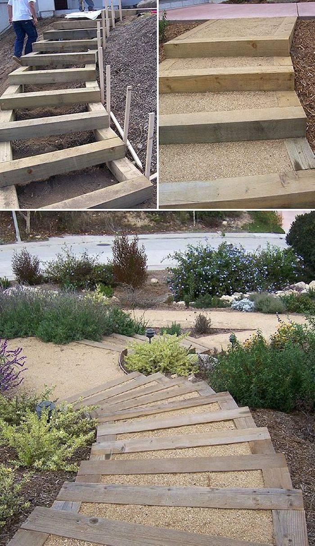 Как сделать лестницу на склоне: 7 простых вариантов, пошаговые рекомендации, фото