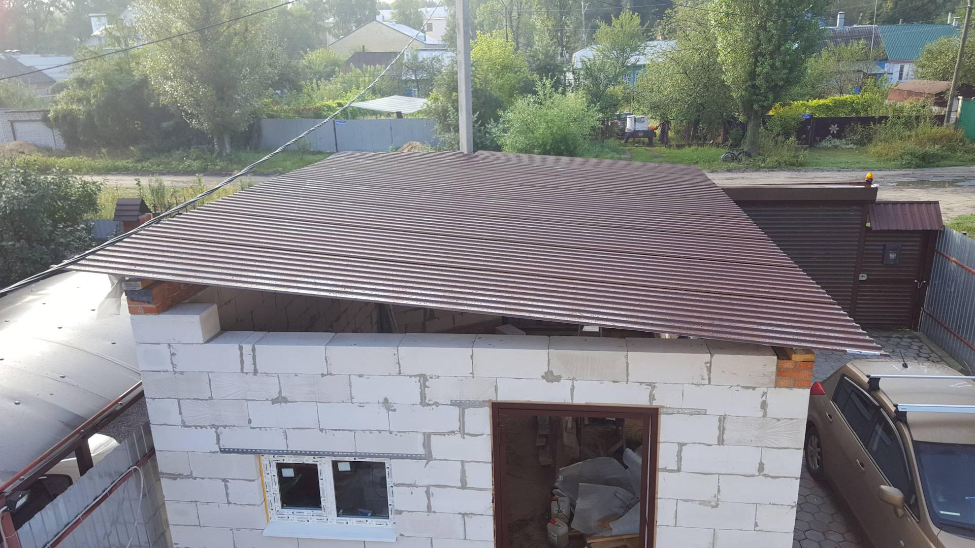 Односкатная крыша для гаража, как правильно сделать, в том числе своими руками, а также особенности ее устройства и монтажа