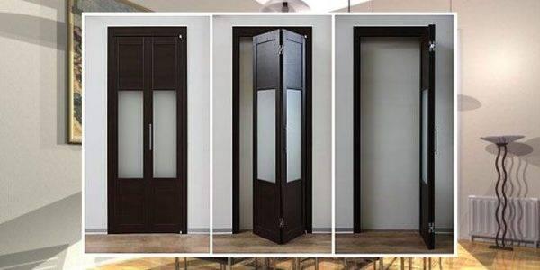 Обзор двери-гармошка — устройство, размеры и цена