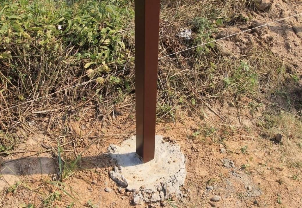Установка заборных столбов: топ 7 способов установки заборных столбов   огородники