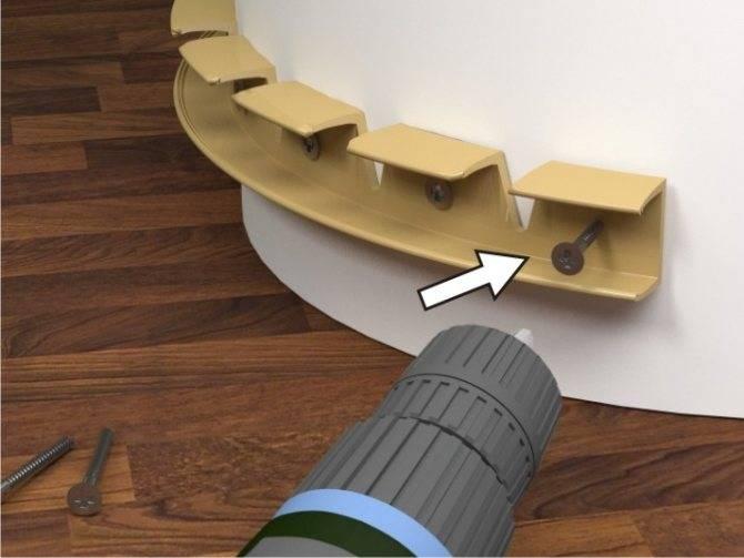Как прибить пластиковый (или деревянный) плинтус и не наделать ошибок