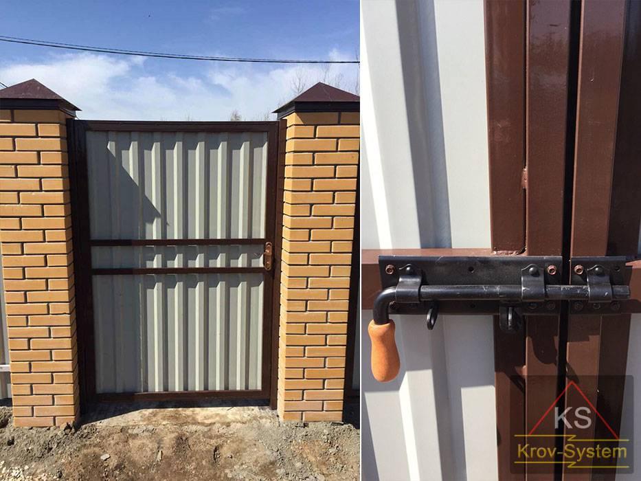 Закладные в кирпичных столбах для ворот (28 фото): установка закладных для распашного забора и калитки