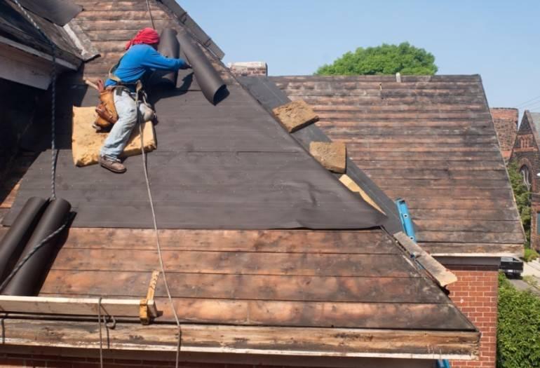 Покрытие крыши гаража рубероидом своими руками