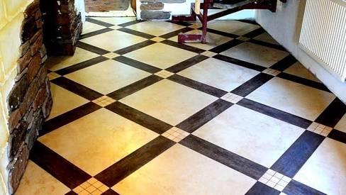 Укладка плитки на пол по диагонали — как определить начальную точку