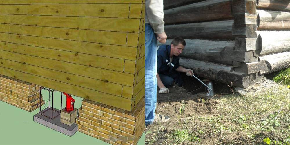Домкраты для поднятия дома (26 фото): как правильно поднять деревянный дом своими руками? каким домкратом можно приподнять баню?