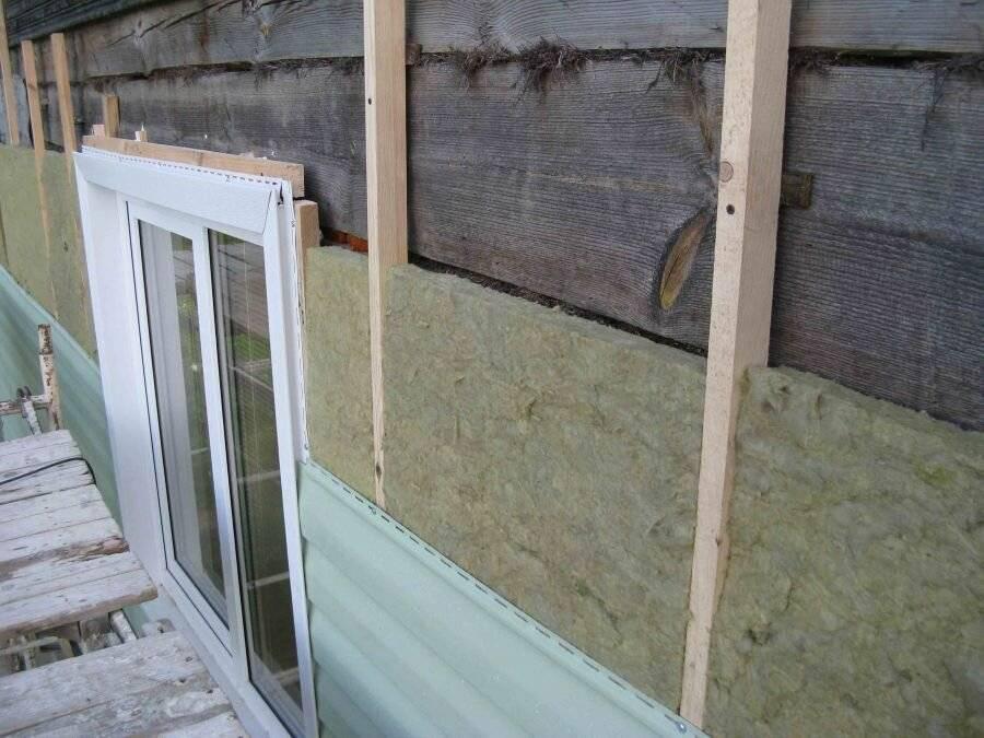 Утепление стен деревянного дома снаружи минватой и обшивка сайдингом
