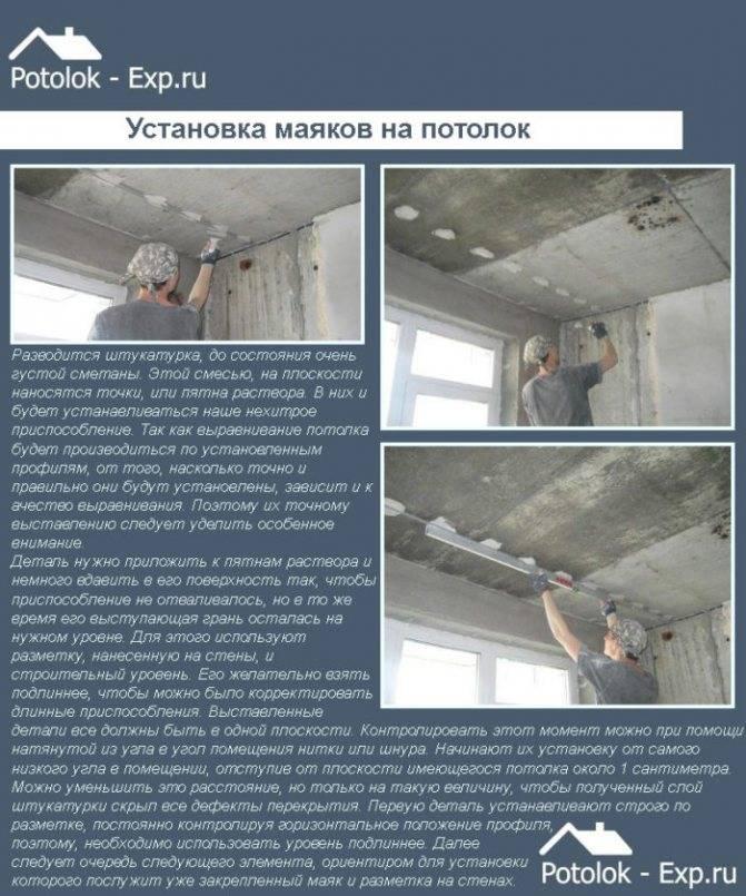 Штукатурка потолка своими руками: этапы выполнения работ