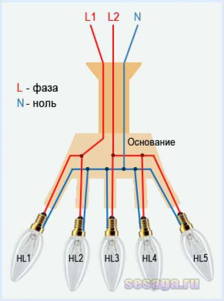 Как подключить люстру с 2, 3, 4 и более проводами своими руками?   electricity help