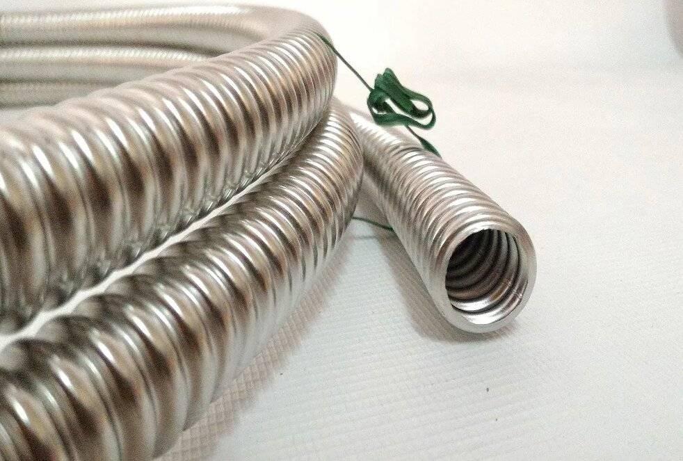 Гофрированная труба из нержавеющей стали: гибкая гофра – нержавеющая труба, характеристики нержавейки