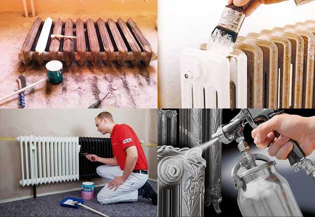 Как покрасить батареи отопления - выбор лучшей краски, техника окрашивания