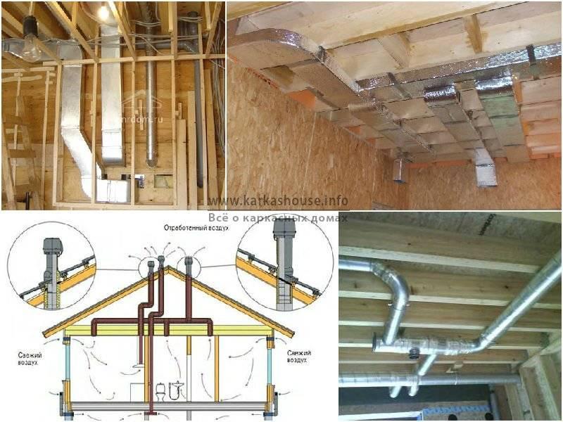 Вентиляция в каркасном доме своими руками: как правильно сделать приточную систему, а также виды воздухообмена и схема установки оборудования