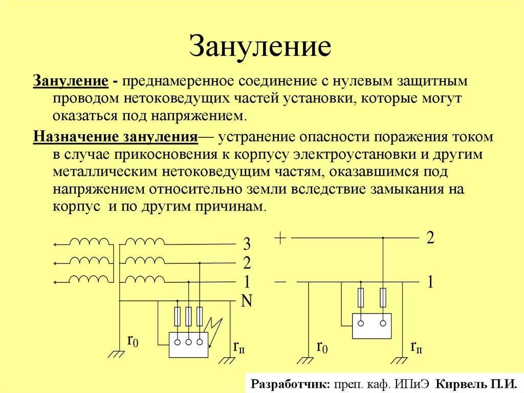 Значение фаза и ноль в электричестве