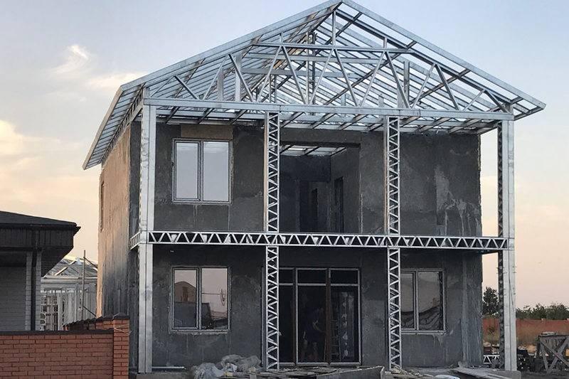 Дом из металлопрофиля своими руками