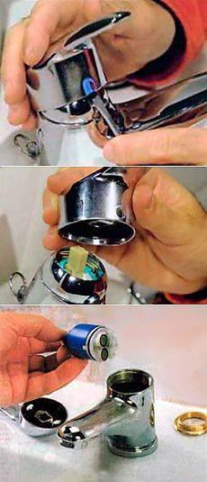 Как разобрать и отремонтировать однорычажный смеситель