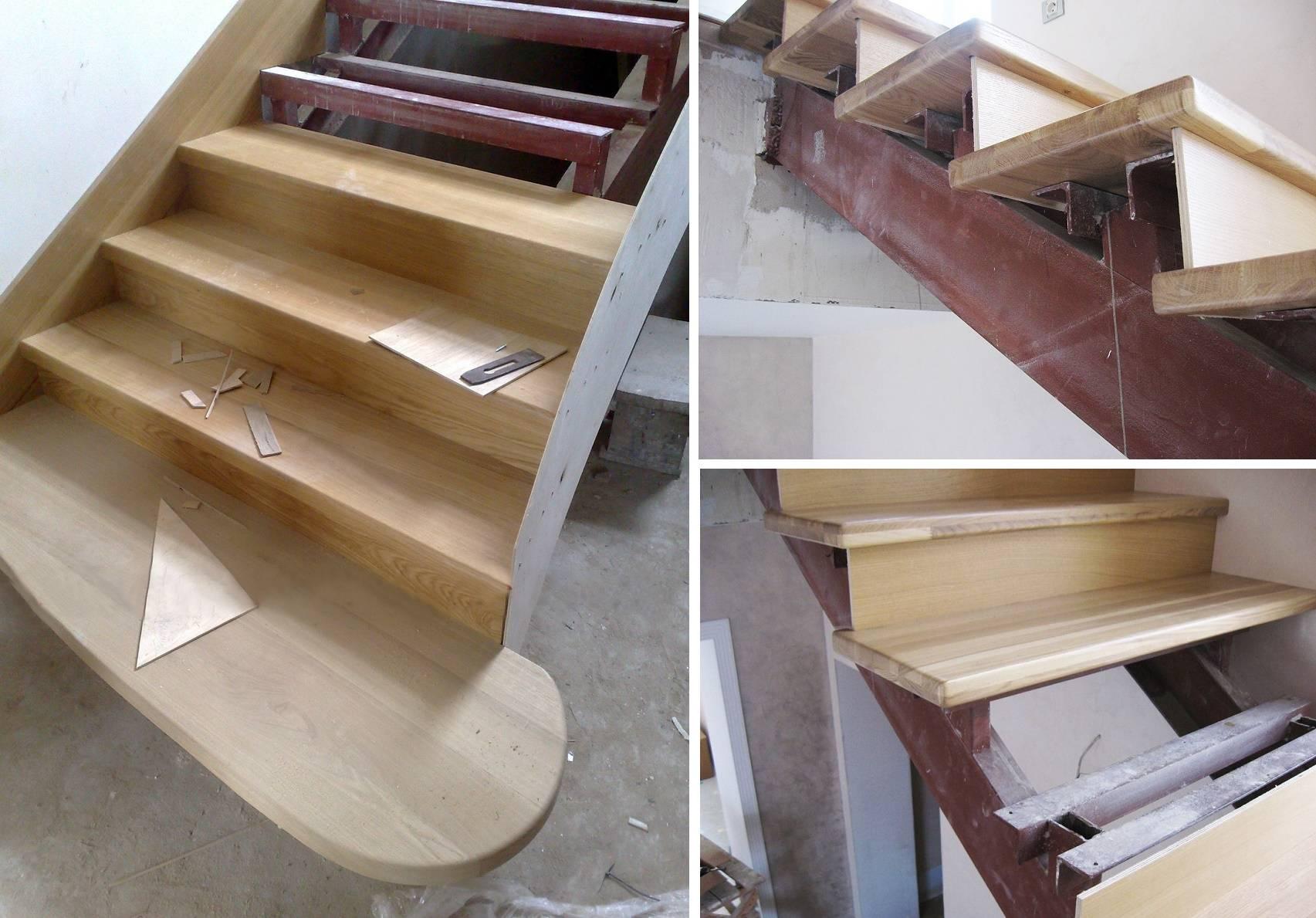 Отделка металлической лестницы деревом – нюансы проведения работ