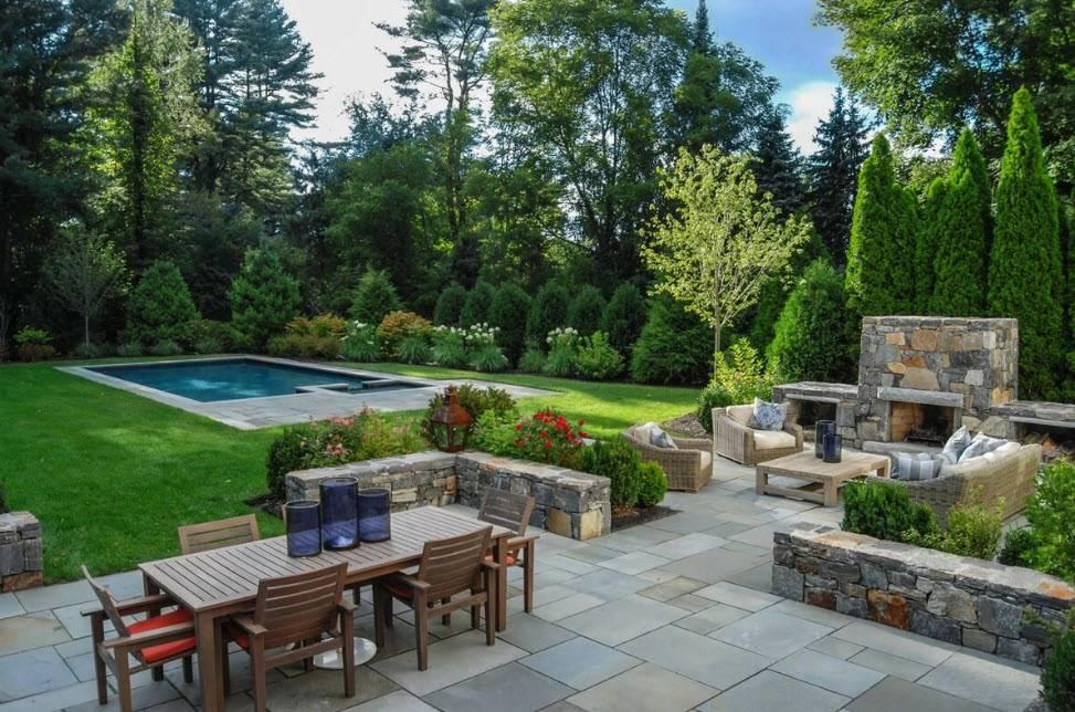 Обустройство двора частного дома — лучшие концепции оформления и стиля в обзоре с фото и видео!
