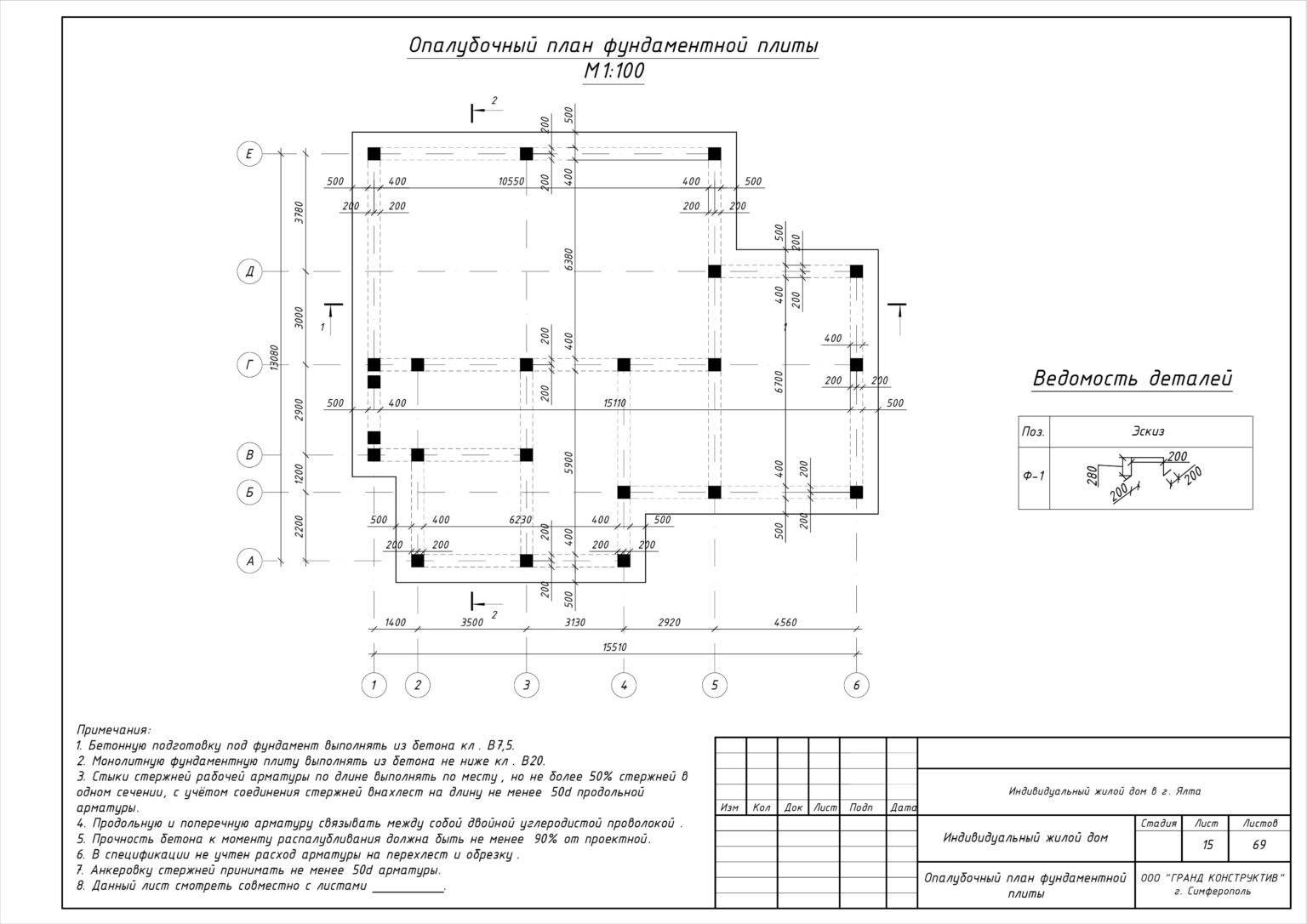 Фундамент плита — расчет толщины