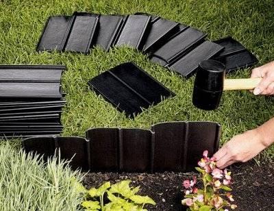 Бордюрная лента для грядок, сада, газона, клумбы: как правильно установить своими руками + фото