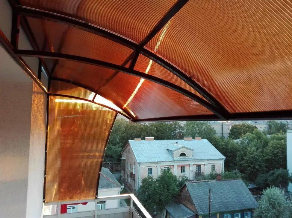 Крыша на балкон или лоджию