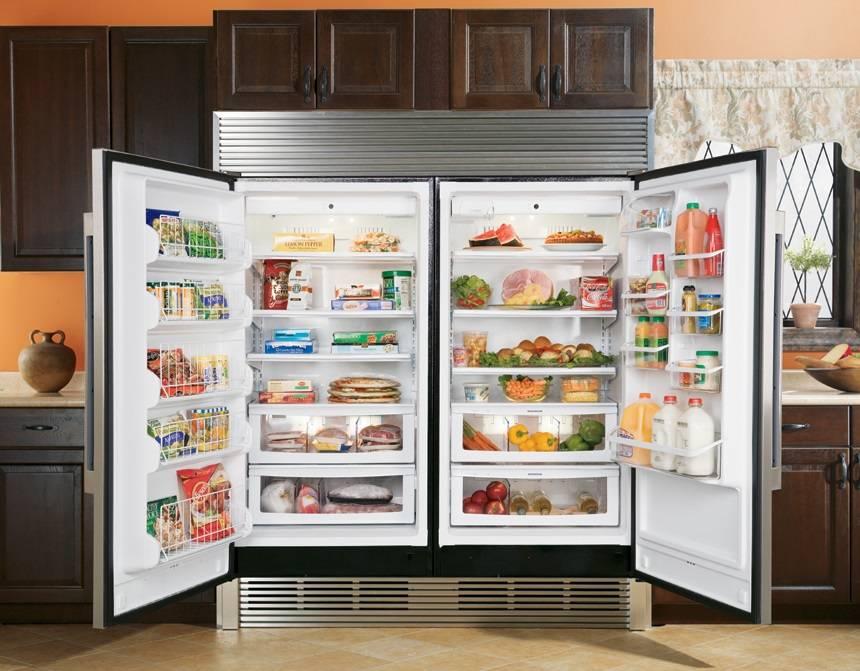 Холодильник двухдверный: встраиваемые и отдельностоящие модели