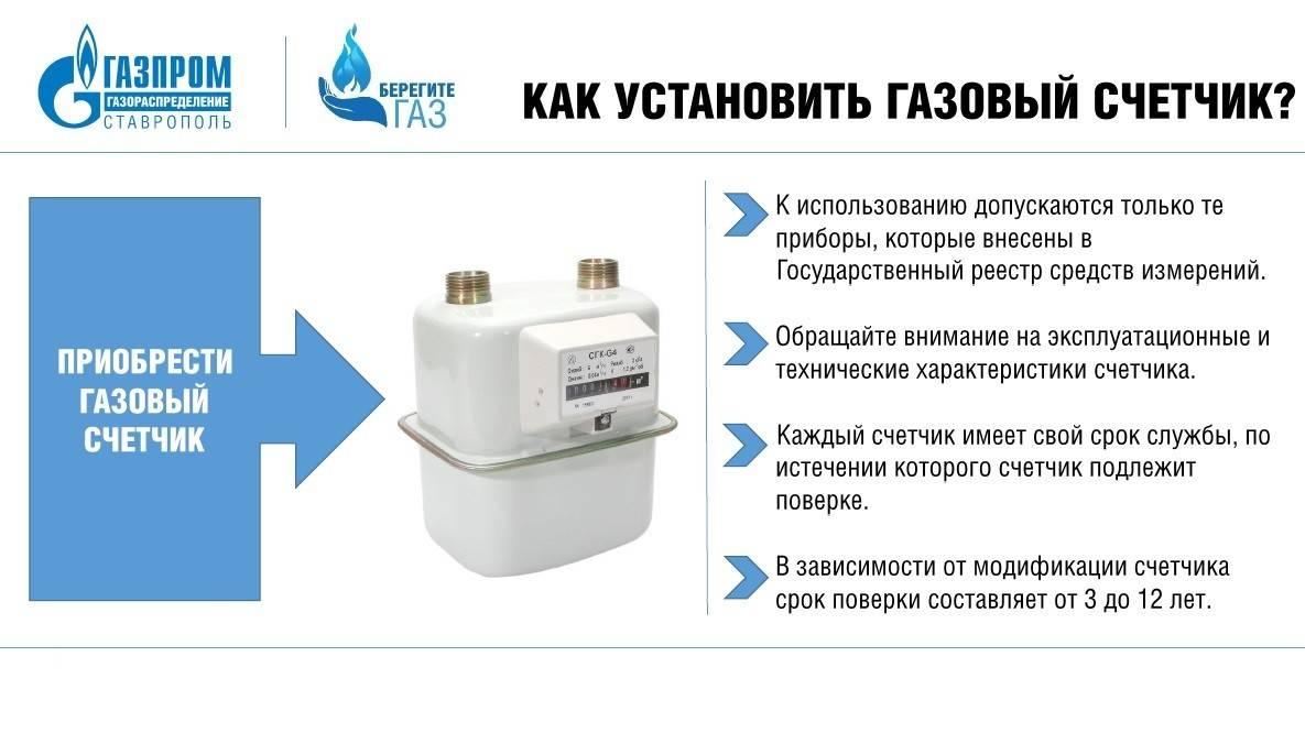 Порядок замены газового счетчика в частном доме