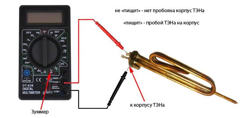 Как прозванивать тэн мультиметром