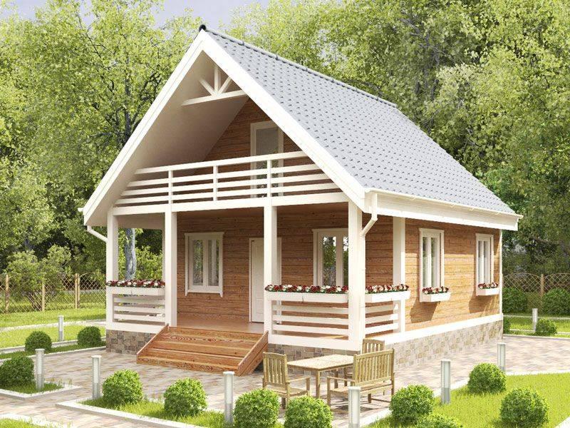 Проекты дачных домов под ключ: с верандой и мансандрой