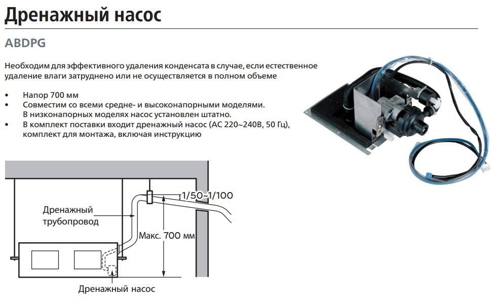 Дренажный насос для кондиционера | главный механик