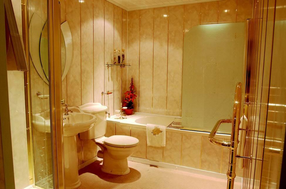 Варианты отделки ванной комнаты: материалы, фото идеи