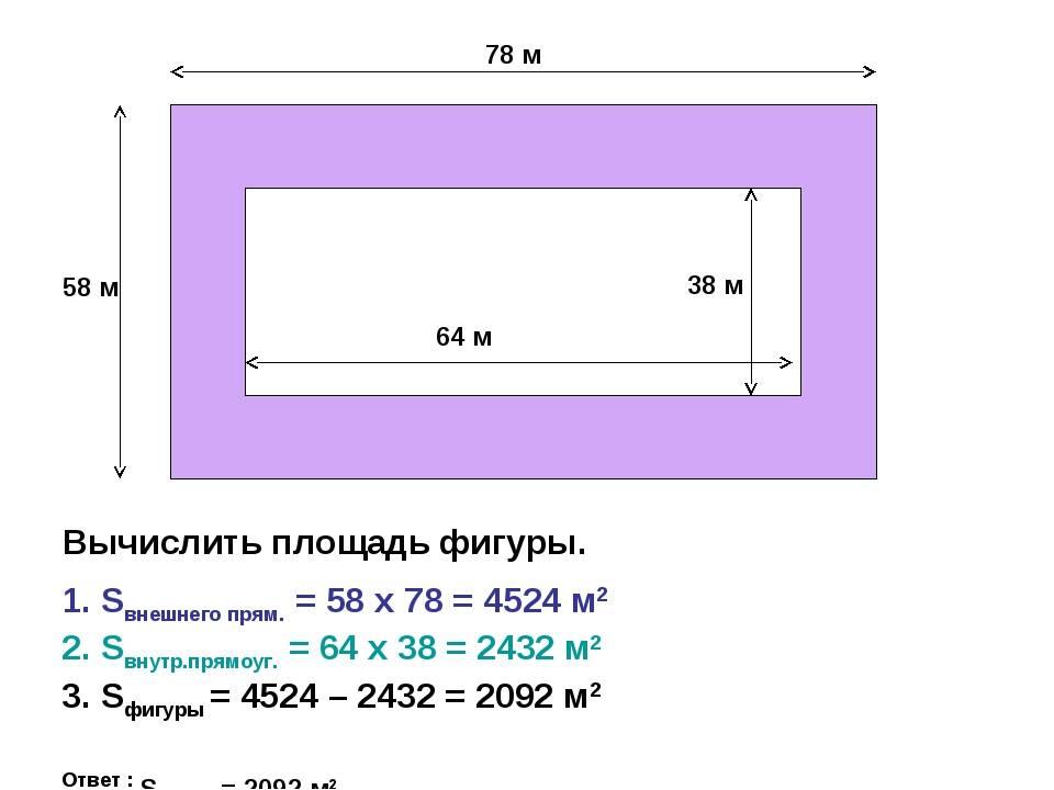 Онлайн калькулятор для расчета площади комнаты, стен, потолка и пола в квадратных метрах