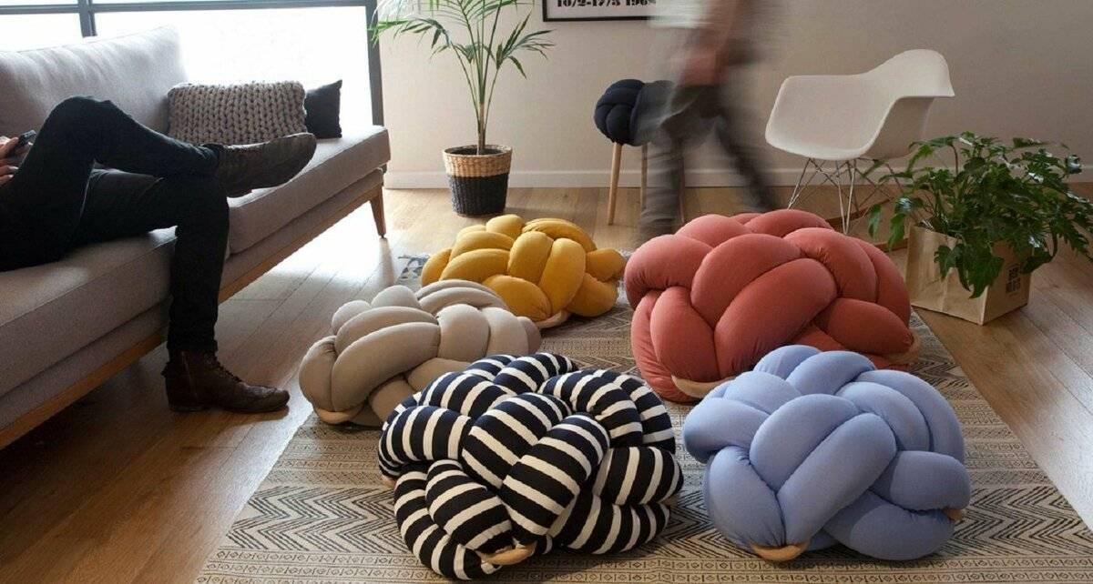 Стильная подушка-узел своими руками — сделайте свою квартиру более современной