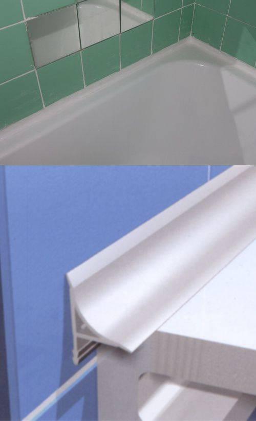 5 способов заделать щель между ванной и стеной: 50 фото и 4 видео