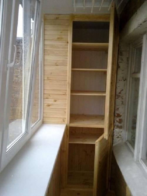 Как сделать шкаф на балконе своими руками: пошаговая инструкция + фото