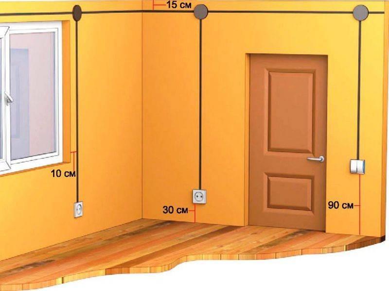 Высота установки выключателей и розеток от пола   правила и стандарты