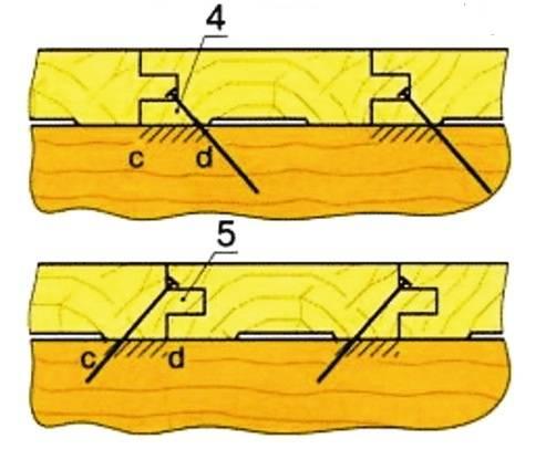 Укладка пола из шпунтованной доски